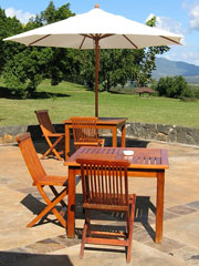 patio umbrella - teak patio furniture